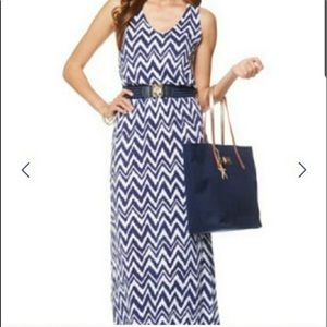 Lilly Pulitzer Get Your Chevron On Maxi Dress